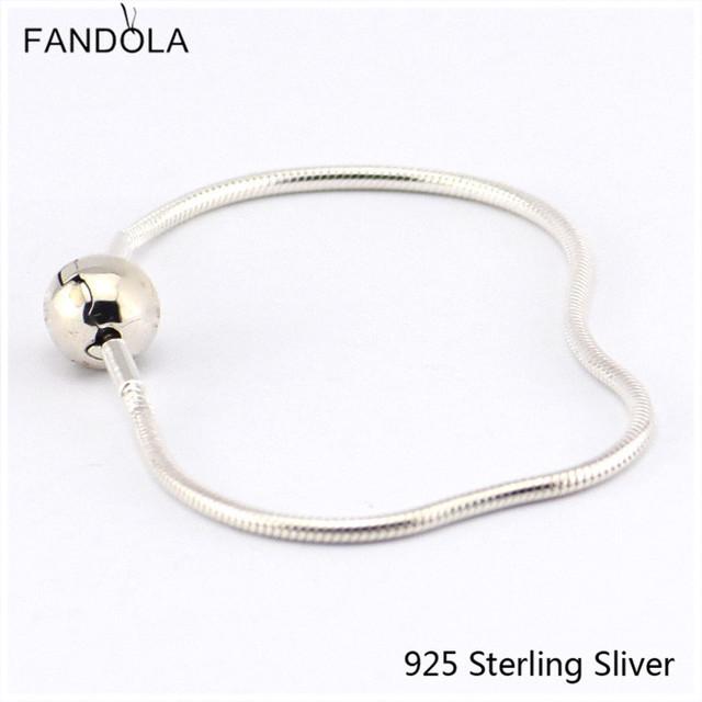 925 Sterling Silver Serve Para Estilo Europeu Bracelet Jóias Essência Pequeno Contas Fecho de Céu Estrelado, limpar CZ Encantos DIY Originais