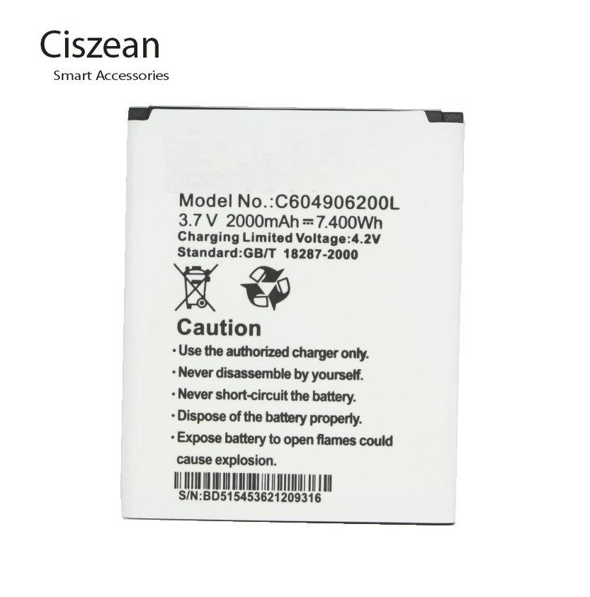 ciszean 5x 3 7v 2000mah replacement li ion battery