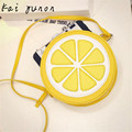 kai yunon Female Fashion Personality Round Lemon Shoulder Bag Sep 9