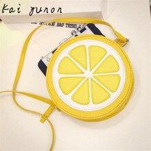 kai yunon Female Fashion Personality Round Lemon Shoulder Bag Sep 9