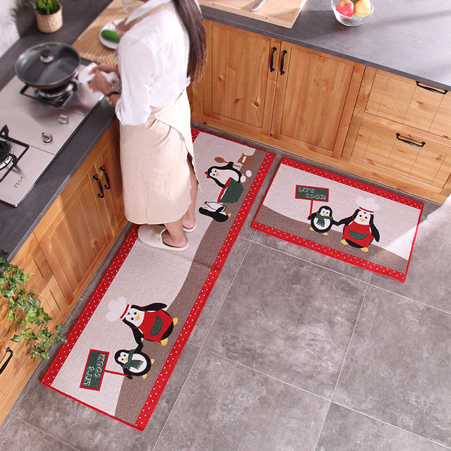 2pcs/set Carpet 50x80 And 50x160cm Cotton Rug Kitchen Mats Into Door Mats  Carpet Long