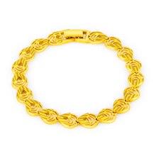 Delicado Multi vacío gota de agua en forma de cuentas de Color amarillo oro pulsera regalos Vintage para mujeres fiesta de lujo joyería ajuste cómodo