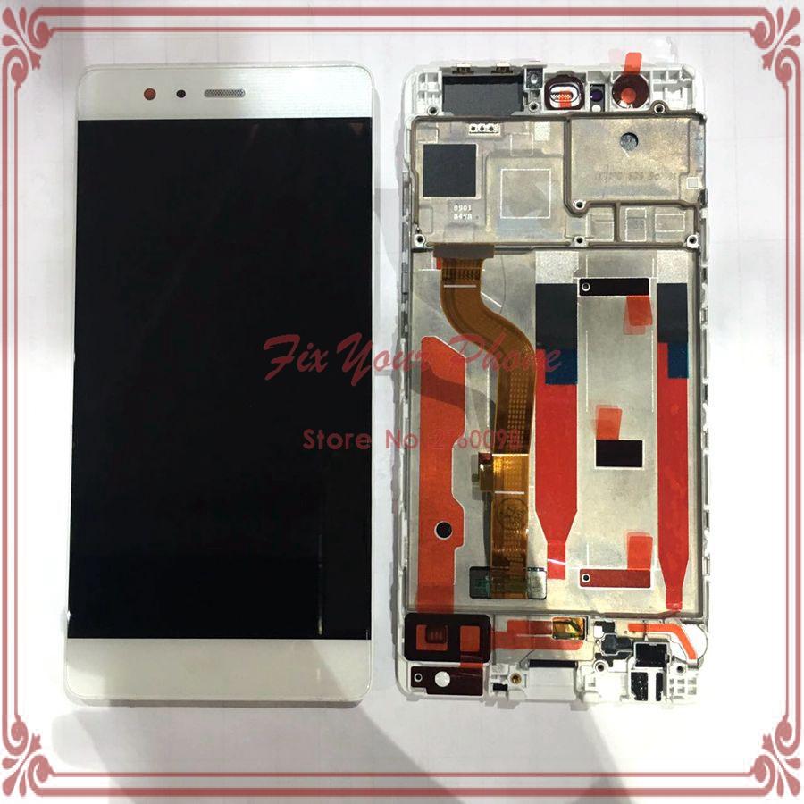 Prix pour Lcd display + assemblée d'écran tactile avec cadre remplacement pour huawei p9 eva-l09 eva-l19