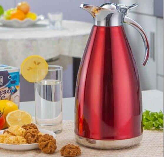 2L Высокое качество 304 Нержавеющаясталь Термальность горшок Лидер продаж Творческий бытовой подарок чайник Бесплатная доставка