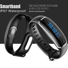 Smart запястье сердечного ритма Приборы для измерения артериального давления Мониторы M4 IP67 Водонепроницаемый Беспроводной bluetooth touch Управление Смарт Браслет