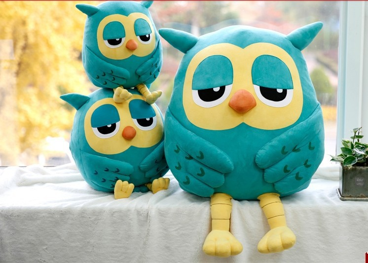 huge lovely plush Owl pillow new big creative green owl toy doll gift about 100cm