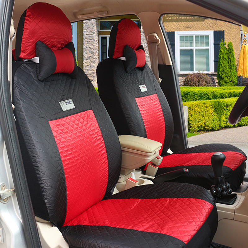 (Front + Rear) Universal Car Seat Covers For Volkswagen Vw Passat Polo Golf Tiguan Jetta Touareg Auto Accessorie Styling