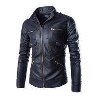 Najwyższej jakości mody męskie skórzane kurtki i płaszcze schudnięcia napadu motocykl pu płaszcz 3 kolor ML XL XXL CCL38