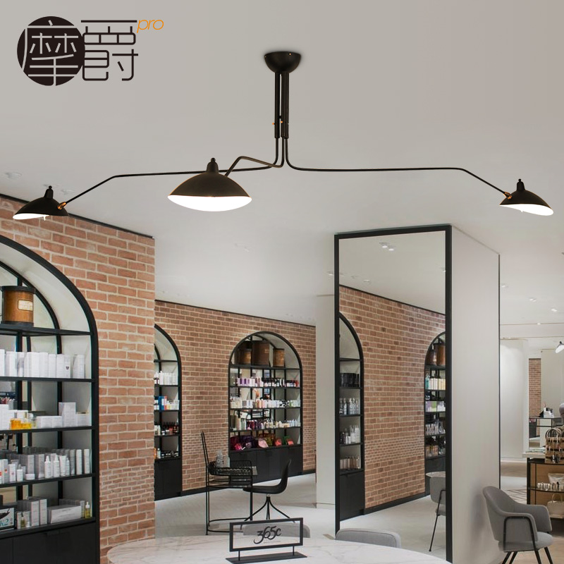 Modern Creative Swing Arm Crazy Design Ceiling Light Surface Mounted Light Fixtures for Living Room Study Dining Room