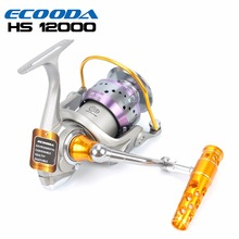 ECOODA Hornet Heavy Duty Metal Spinning Jigging Fishing Reels Saltwater Boat Rock Fishing Reel HS8000/12000