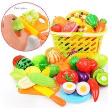 37 шт./лот, Детские ролевые игры, домашние игрушки, разделочные фрукты, пластиковые овощи, еда, кухня, классические детские развивающие игрушки