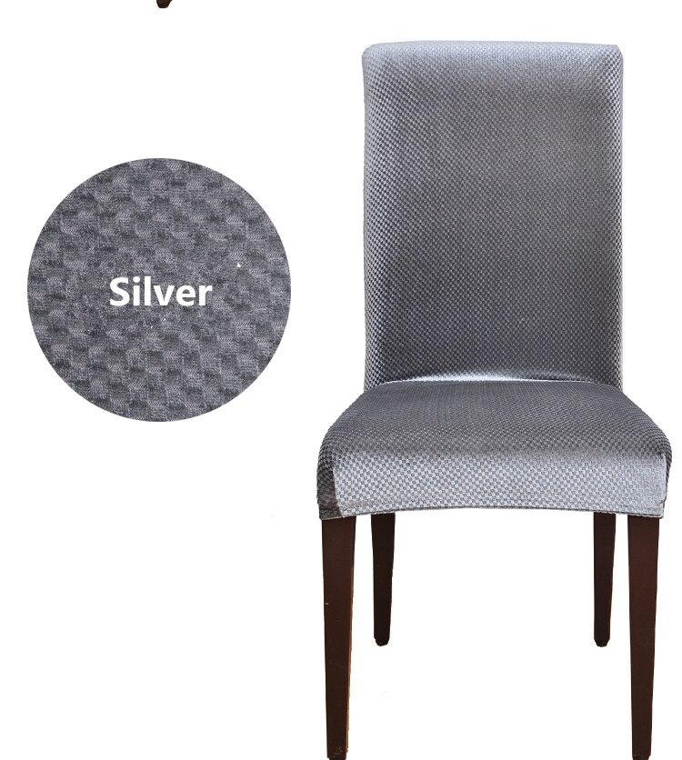 couvre chaises de salle a manger en tissu de velours couvre chaise elastique universel housse de chaise de salle a manger en spandex housse de