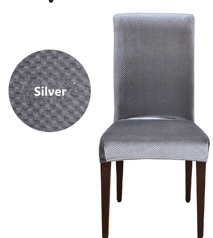 New Velvet Fabric Universal Elastic Dining Chair Covers