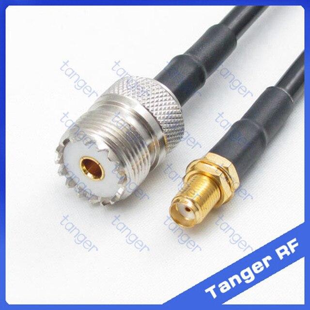 Offre spéciale jack UHF femelle SL16 SO239 à SMA   Câble Coaxial droit RF RG58, Pigtail, câble Coaxial de haute qualité 50cm 20 pouces