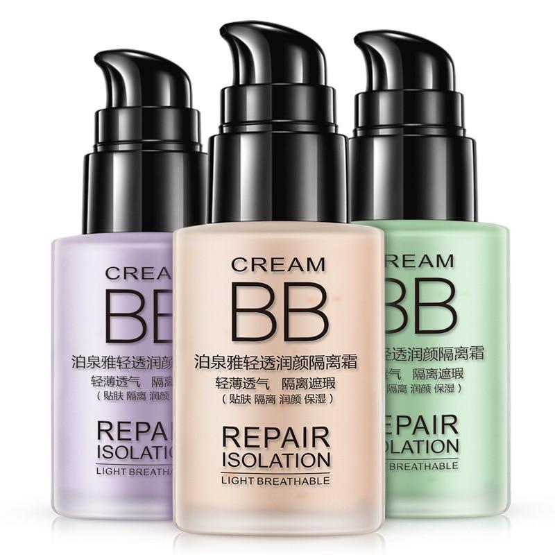 BIOAQUA BB Cream Light Clear Cream Brighten Skin Makeup Moisturizer Firm Concealer Repair Isolation 30g
