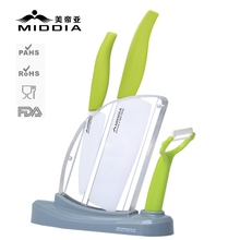 Middia 4pcs ceramic knife set with block for ceramic paring knife utility knife peeler of Kitchenware