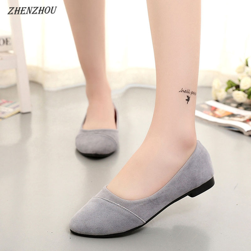Free shipping 2018 autumn new flat single shoes female OL work shoes round head women's shoes shallow mouth flat with low help стоимость