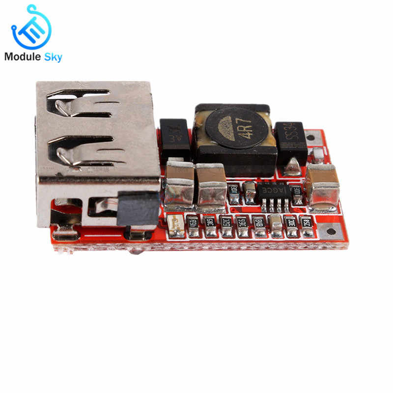 USB DC-DC Buck Converter Charging Step Down Module 6-24V to 5V 3A Board DC Buck Step Down Converter Development Board