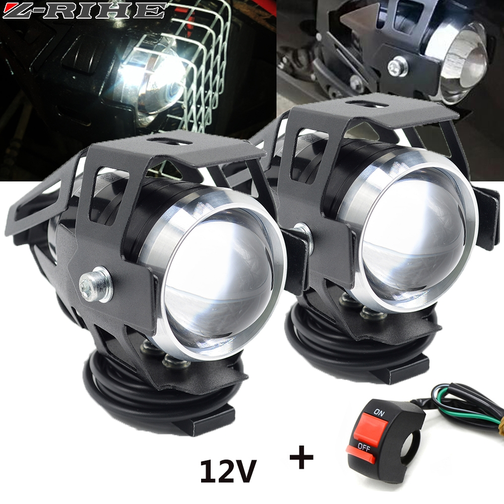 2PCS 125W motorcycle headlights auxiliary lamp U5 led spotlight 12V DRL spot head lights For Triumph Kawasaki HONDA X-ADV 7502PCS 125W motorcycle headlights auxiliary lamp U5 led spotlight 12V DRL spot head lights For Triumph Kawasaki HONDA X-ADV 750