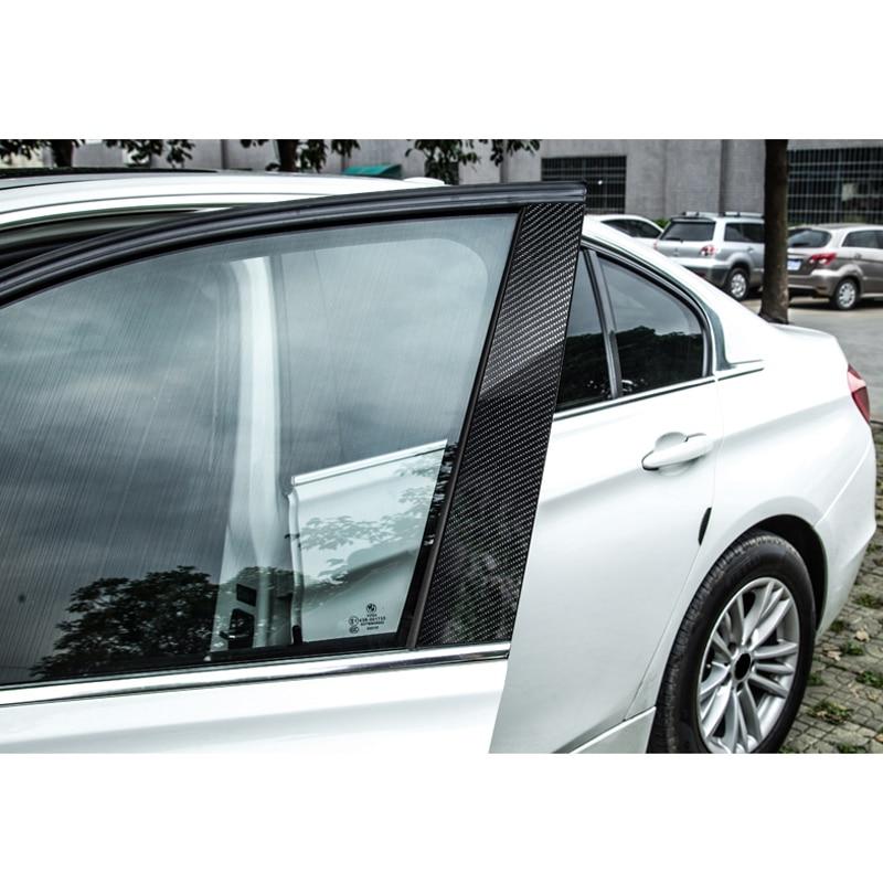 Image 4 - Carbon Fiber Window B pillar Molding Cover Trim For BMW 1 3 5 Series E90 E60 F30 F10 X5 X6 X1 X3 E70 E71 F15 F16 F07 F25 E46 E84-in Interior Mouldings from Automobiles & Motorcycles