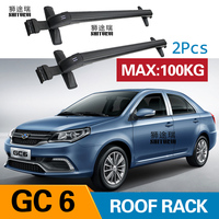 Car Luggage Rack Crossbar Roof Rack FOR GEELY GC6 4 DOOR Sedan 2017 2018 2019 LOAD 100KG BAR LED roof rails
