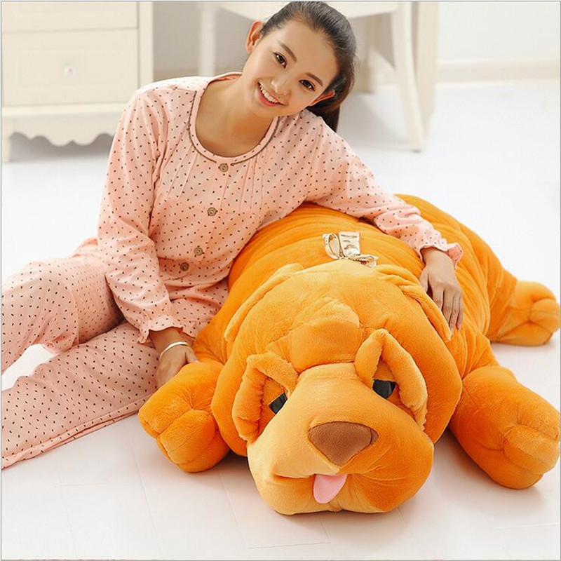 120cm Big Stuffed Plush Dog Toy SHAR.PEI Dog Doll Large Pillow Papa Dog Cushion Household Items household 100cm/120cm Juguetes stuffed animal 44 cm plush standing cow toy simulation dairy cattle doll great gift w501