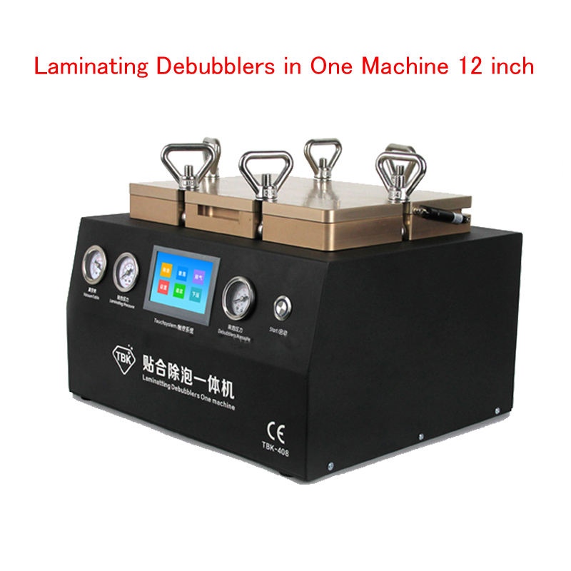 Laminating Debubblers In One Machine 12 Inch Laminating Machine 2 In 1 LCD Touch Screen Air Bubble Adhesive Remover TBK408