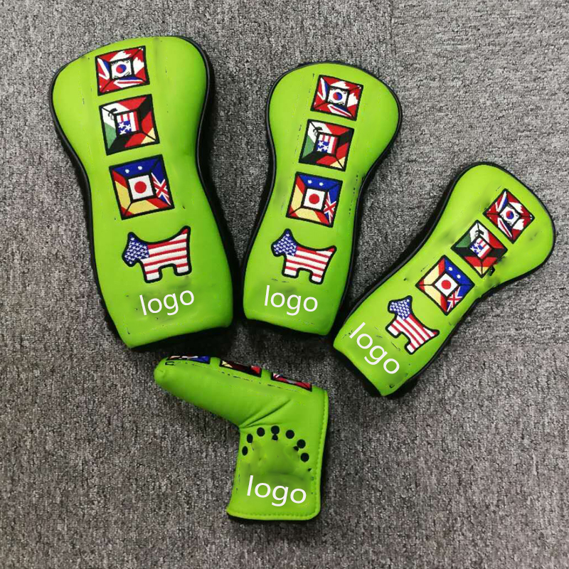 2018 NEWEST Custom Design GOLF HEAD COVER SWoods1# #3 #5 AND Putter Clubs Headcovers 4 PCS/LOT FREE SHIPPING free shipping 5 pcs lot si4463 b1b fmr si4463 44631b qfn48 new in stock ic