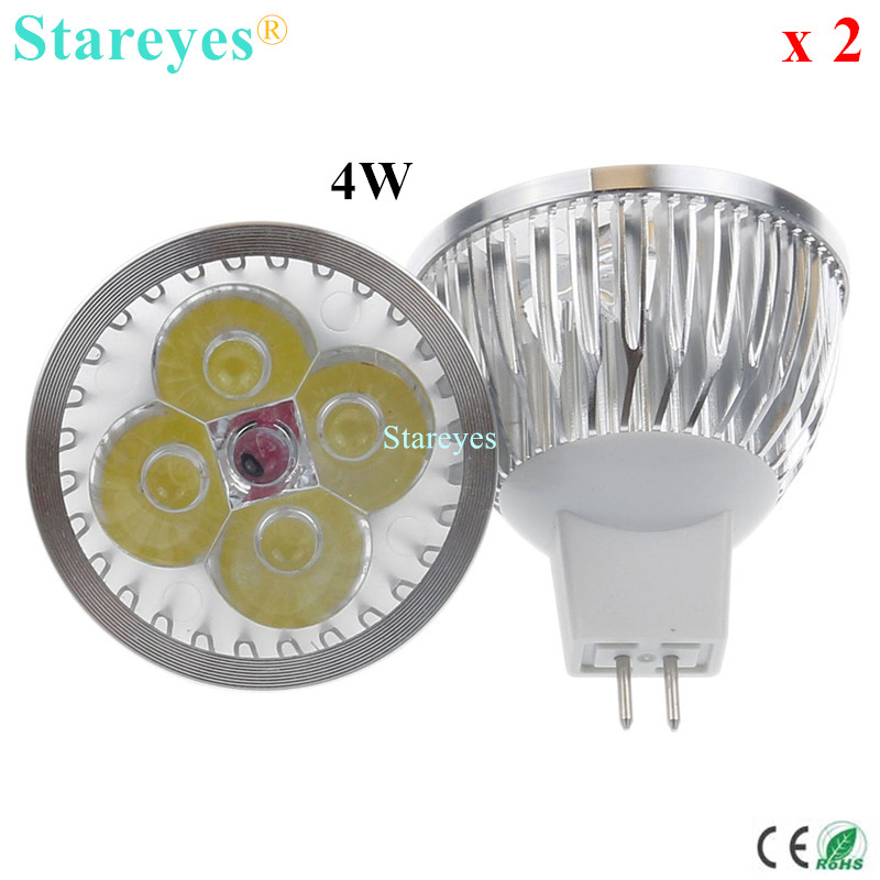 Lights & Lighting Honest Free Shipping 2 Pcs Dimmable Mr16 4w 3w Ac&dc 12v High Power Led Spotlight Downlight Lamp Bulb Lighting Led Droplight Light To Suit The PeopleS Convenience