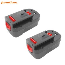 2PACKS 3500mAh 18V NI-MH HPB18 Rechargeable Battery For BLACK&DECKER A18 A1718 A18NH HPB18-OPE FS1800CS FS1800D FS180 L10