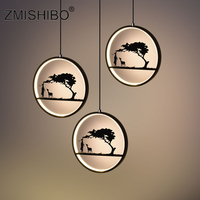 ZMISHIBO Romantic LED Pendant Lamp 110 240V Iron Black White Deer Totoro Home Decor Animal Pendant Lights Living Room Lighting