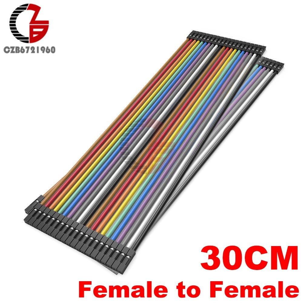 40 Pin Dupont кабель 10 см 20 см 30 см мужчин и женщин Dupont линия макет Jmper разъем провода для Arduino DIY - Цвет: 30CM Female-Female