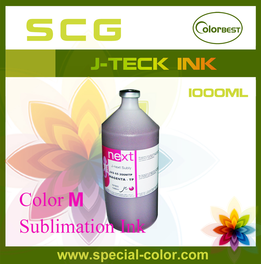 Waterbased Color M Sublimation Ink J-Teck 1000ml for Epson DX4/DX5/DX7