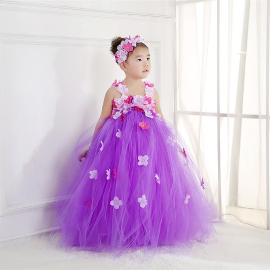 Brand Discount Fashion New Born Baby Girl First Birthday Wedding Flowers  Tutu Dresses with Flowers Headdress 1357 41a90763b