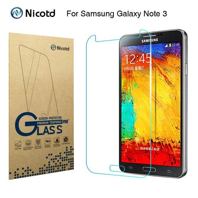 """Nicotd 2.5D Gehärtetem Glas Für Samsung Galaxy Note 3 III N9000 N9005 5,7 """"Anti Schock Einscheiben schutzfolie schutz Film"""