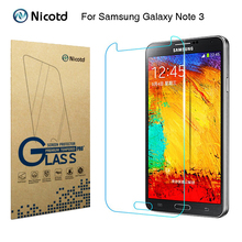 Nicotd 2.5D Tempered Glass For Samsung Galaxy Note 3 III N9000 N9005 5.7″ Anti-Shock Toughened Screen Protector Protective Film