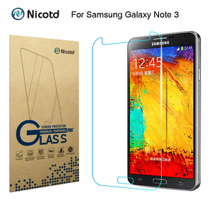 "Image 1 - Nicotd 2.5D Tempered Glass For Samsung Galaxy Note 3 III N9000 N9005 5.7"" Anti Shock Toughened Screen Protector Protective Film"