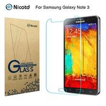 """Nicotd 2.5D Temperli Cam Samsung Galaxy Not 3 III Için N9000 N9005 5.7 """"Anti şok Sertleştirilmiş Ekran Koruyucu koruyucu film"""