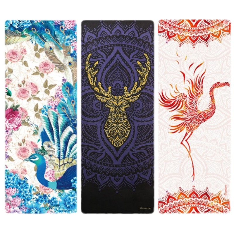 NEW 183 68cm 1mm Professional Non slip Ultrathin Deerskin Suede Rubber Yoga Mat Lose Weight Exercise