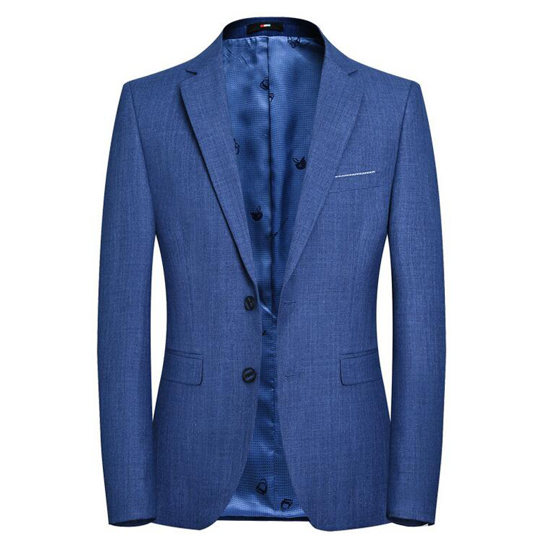 New High Quality Mens Suit Spring / Autumn Fashion Coat Jacket Pure Color Tops Outer Male Blazers