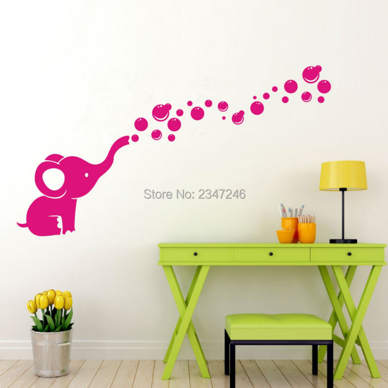 calf elephant bubble decal removable nursery nursery
