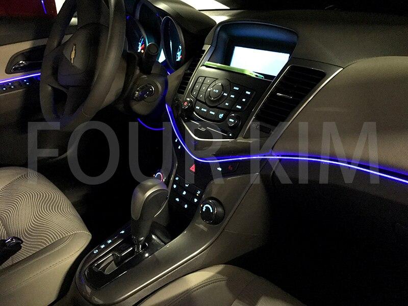 Auto Innerhalb Tuning Kühlen Streifen Refit Licht Glasfaser Band 4 ...