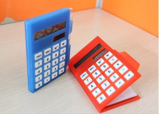 free shipping business calculator notebook Pocket solar calculator notepad with pen