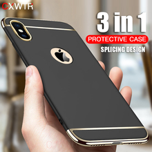 Luxury Gold Hard Case for iPhone 7 6 6s 5 5s SE X Back Cover
