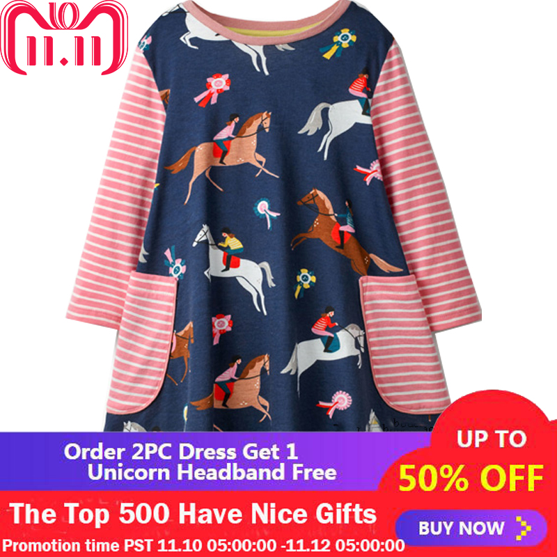 Baby Girls Dress Long Sleeve Vestidos Kids Unicorn Party Dresses for Girls Clothes Princess Dress Christmas Children Clothing lace short sleeve patchwork kids dresses for girls 2018 baby girls dress summer princess dress baby children clothing 10 12 14 y