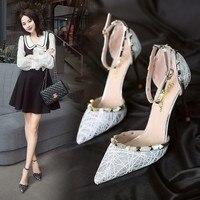 Classics High Heels Women Dress Shoes Fashion Wedding Shoes Rivet Heels Bridal Shoes Gold/Black/Silver Heels