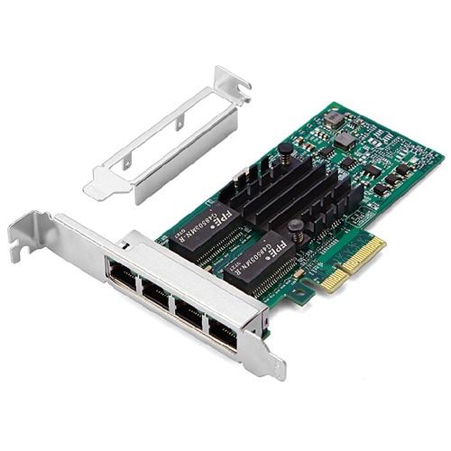 100% Brand New I350T4 10/100/1000Mbps PCI-Express 4 x RJ45 Gigabit Ethernet Port Server Adapter for Desktop Server Work Station pcie x1 4 port gigabit ethernet server card adapter 10 100 1000mbps i340 t4 esxi