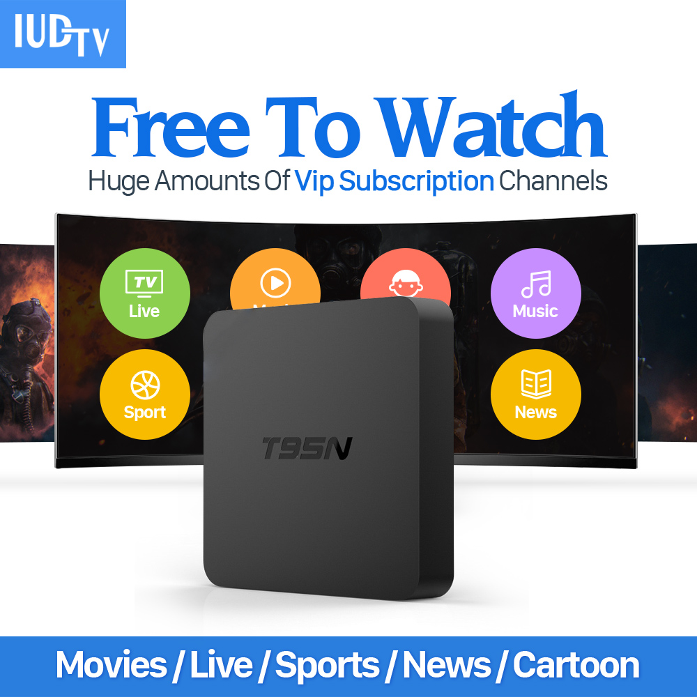 Android 6.0 Smart TV Set Top Box 2+8G Media Player with HD 1700+ Live IPTV Italy UK Europe Arabic Channels Subscription 1 year цена 2016