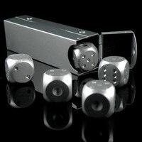 5 Adet/takım Metal Alüminyum Alaşım Katı Zar Seti MTG Magic The Gathering Içme Zar Kurulu Oyunu Zar