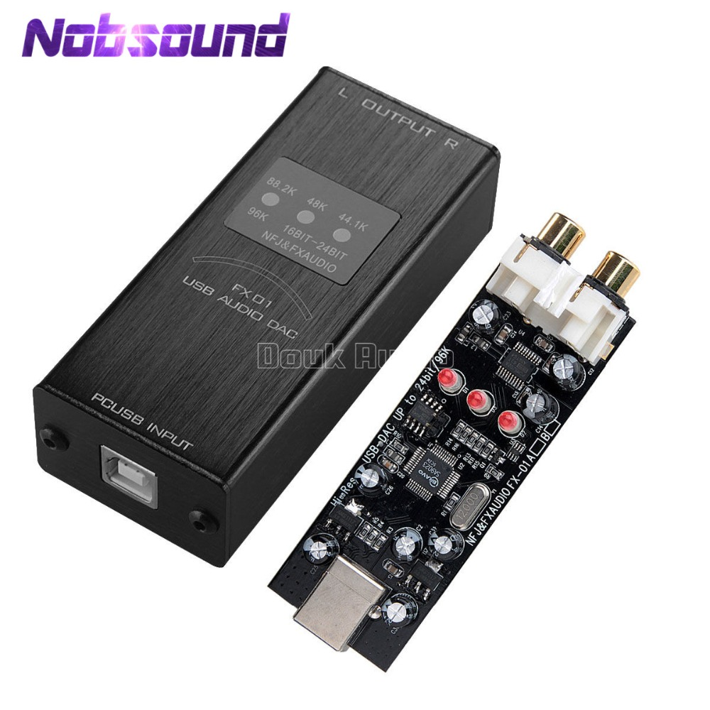 Nobsound Mini PC USB Sound Card Audio DAC Decoder SA9023+PCM5102 Sampling Rate Display_Black